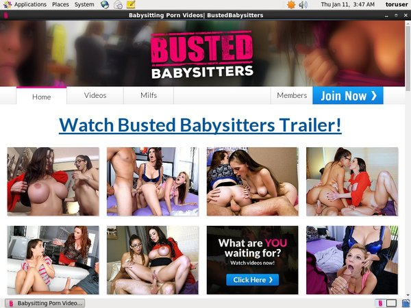 Bustedbabysitters Create Account