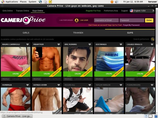 Camera Prive Gay Pay Site