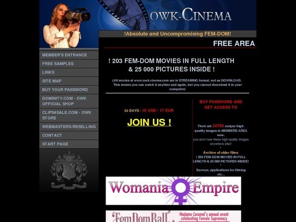 Owk-cinema.com Discount Deal