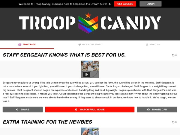 Troop Candy Free Entry