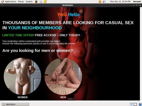 Wellhello.com Premium Free Account
