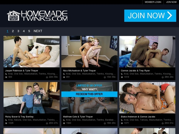 Home Made Twinks Trial Offer