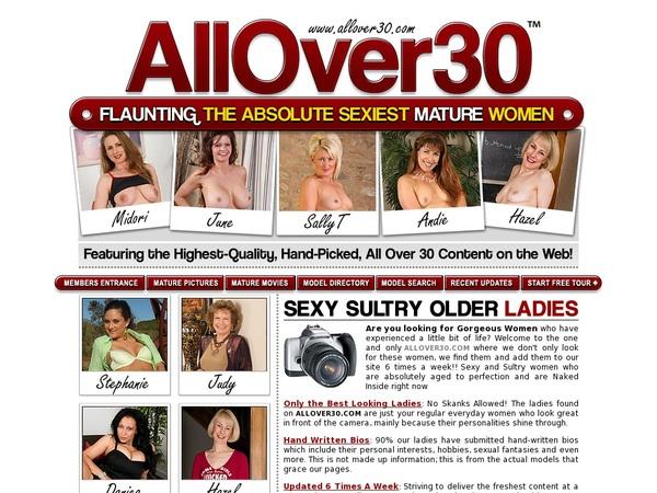 Allover30.com Register Form