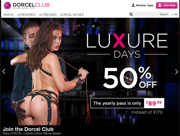 Become Dorcel Club Member