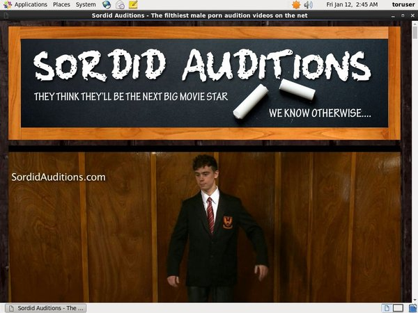 Sordid Auditions Discount Offer 2018