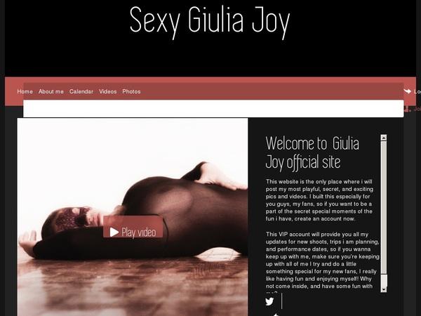 Sexygiuliajoy.net Real Accounts