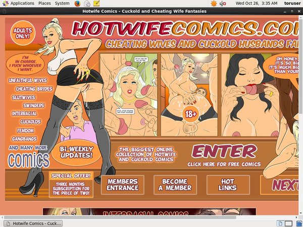 Hotwife Comics Signup Page