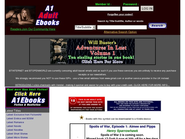 A1 Adult Ebooks Hacked Account