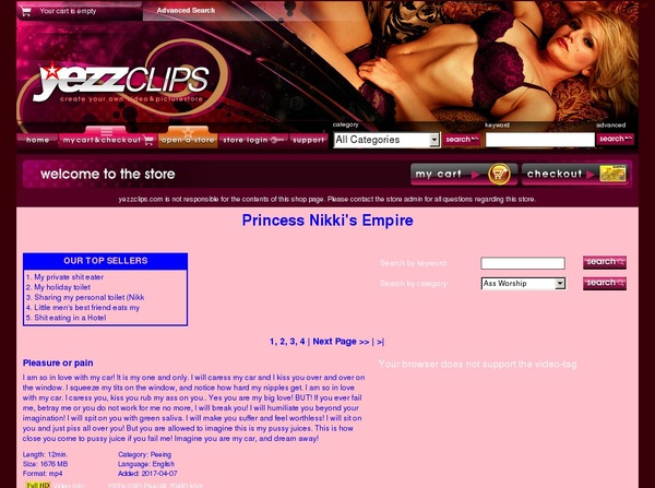 Yezzclips.com Valid Account