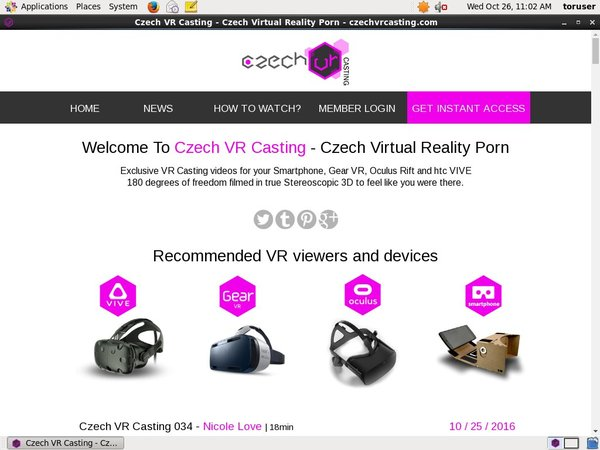 Czechvrcasting Get An Account