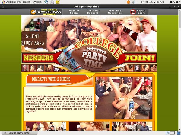 Discounted College Party Time Membership