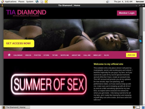 How To Get A Free TiaDiamond Account